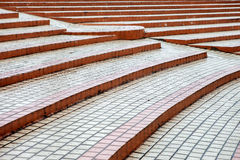 Outdoor steps in square Stock Image