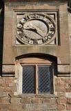 Outdoor Stone Clock Stock Image