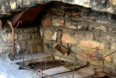 Outdoor Stone Fireplace Stock Images