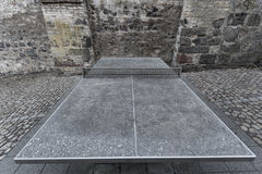 Outdoor stone tabletennis table Stock Photography