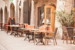 Outdoor street cafe Royalty Free Stock Photos