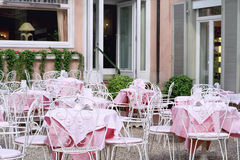 Outdoor street cafe Royalty Free Stock Photography