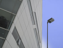 Outdoor street lamp. Beside the modern building Royalty Free Stock Photography