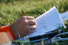 Outdoor study Royalty Free Stock Photography
