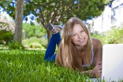 Outdoor studying Royalty Free Stock Photo