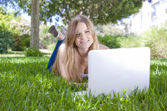Outdoor studying Royalty Free Stock Image