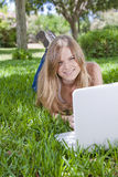 Outdoor studying Royalty Free Stock Images