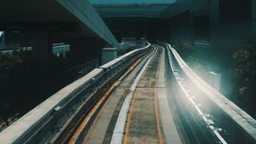 Outdoor subway track stock footage