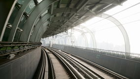 Outdoor Subway View. Daytime. stock video footage