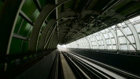 Outdoor Subway View. Daytime. stock footage