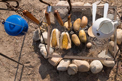 Outdoor summer BBQ or picnic. Food royalty free stock photography