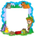Outdoor summer frame Royalty Free Stock Image