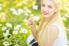 Outdoor summer portrait Stock Photos