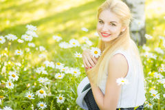 Outdoor summer portrait Stock Images