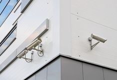 Outdoor surveillance camera Stock Photography