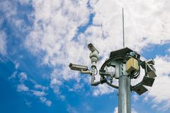 Outdoor Surveillance Camera System Stock Image