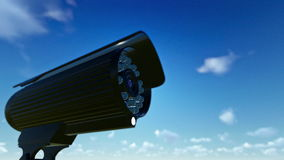 Outdoor Surveillance Camera, timelapse sunrise stock video