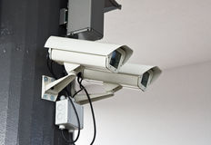 Outdoor surveillance cameras Stock Image