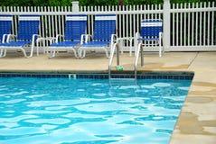 Outdoor swim pool Stock Photos