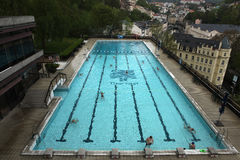 Outdoor swimming poll in Thermal Hotel, Karlovy Vary. Stock Images