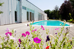 Outdoor swimming pool Royalty Free Stock Photo