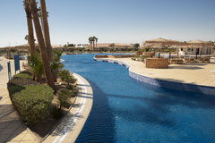 Outdoor swimming pool. In Egypt Royalty Free Stock Photography