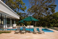 Outdoor Swimming Pool stock images