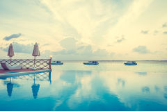 Outdoor swimming pool Royalty Free Stock Images