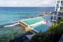Outdoor Swimming Pool, Bondi Beach, Australia royalty free stock image
