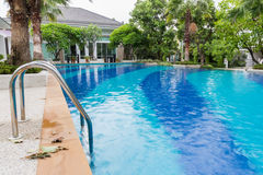 Outdoor Swimming Pool in Garden Stock Photography