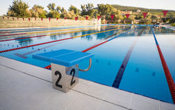 Outdoor swimming pool in Kranevo, Bulgaria Stock Photos