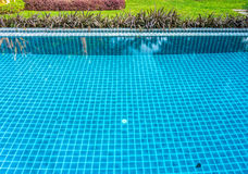 Outdoor swimming pool in a park Royalty Free Stock Photography