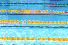 Outdoor swimming pool for race Royalty Free Stock Photography