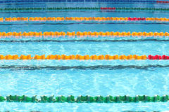 Outdoor swimming pool for race Royalty Free Stock Photo