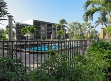 Outdoor swimming pool at resort in Florida Royalty Free Stock Photo