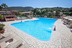 Outdoor Swimming Pool Royalty Free Stock Photography