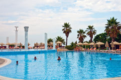 Outdoor swimming pool, Turkey Stock Images