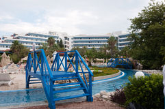 Outdoor swimming pool, Turkey Royalty Free Stock Images
