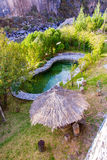 Outdoor swimming pool in upscale Hotel ,Colca Canyon, Peru in South America Stock Images