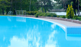 Outdoor swimming pool view Stock Image