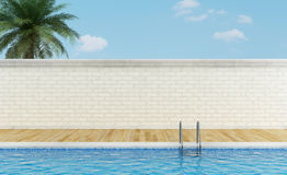 Outdoor swimming pool Stock Photo