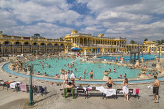 Outdoor swimming pools and baths Stock Photography