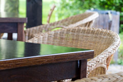 Outdoor Table and Chairs Stock Photography
