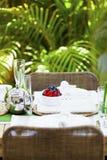 Outdoor table setting Stock Photos
