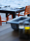 Outdoor Table Setting Stock Image