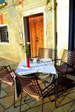 Outdoor table,Venice street Royalty Free Stock Image