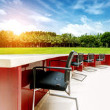 Outdoor tables and chairs meetings Royalty Free Stock Photo