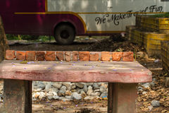 Outdoor tables for a game of Ping Pong Royalty Free Stock Photography