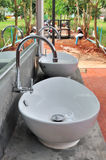 Outdoor taps and washbasins Stock Images