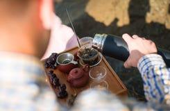 Outdoor tea ceremony Stock Photos